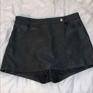 Vintage Genuine Leather Short/Skirt Combo